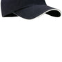 Port Authority Mens Adjustable Hat - Classic Navy Blue/White