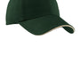 Port Authority Mens Adjustable Hat - Hunter Green/Stone