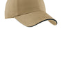 Port Authority Mens Adjustable Hat - Khaki/Charcoal Blue
