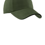 Port Authority Mens Adjustable Hat - Olive Green/Black
