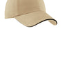 Port Authority Mens Adjustable Hat - Stone/Black