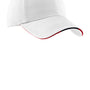 Port Authority Mens Adjustable Hat - White/Classic Navy Blue/Red