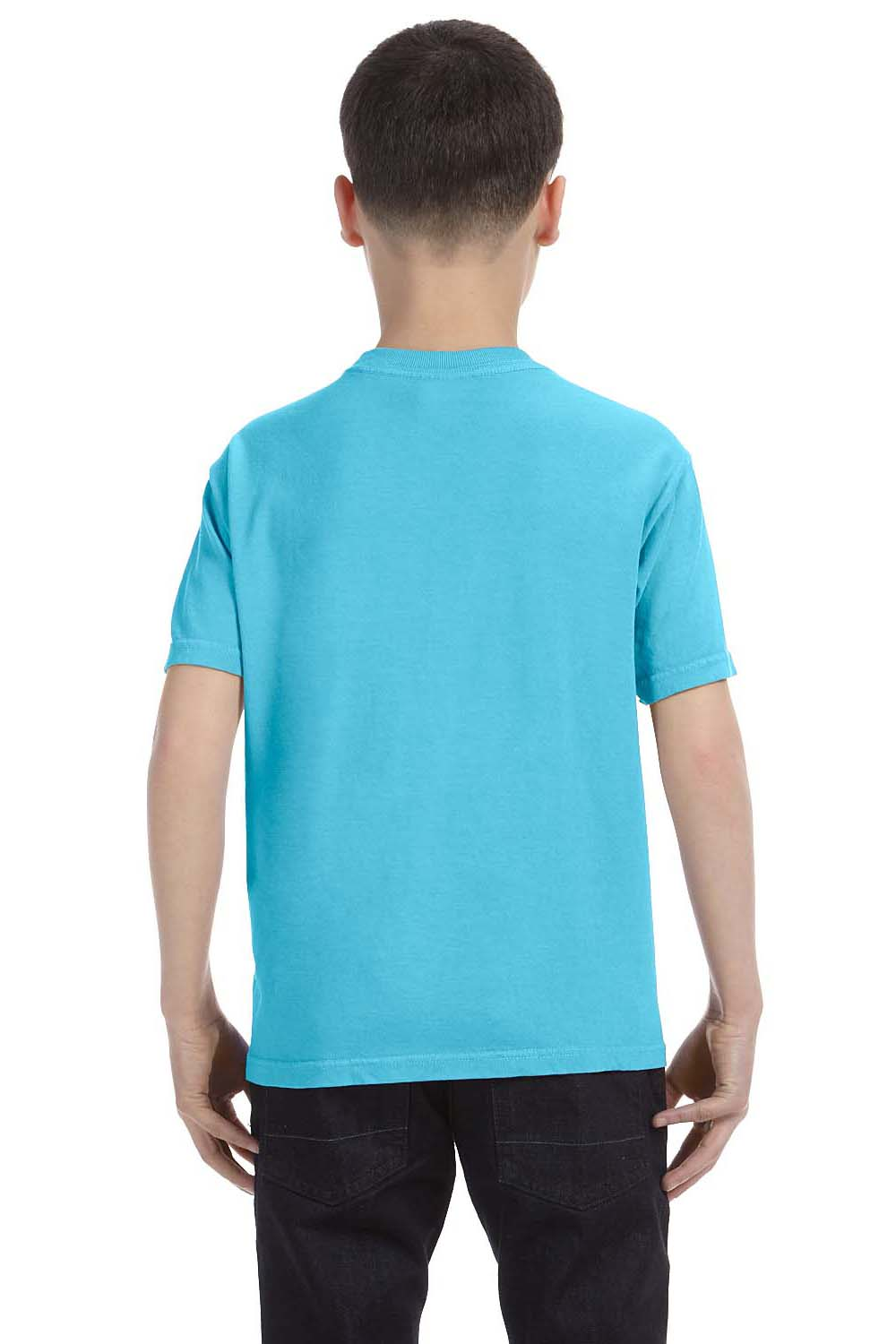 Comfort Colors C9018 Youth Short Sleeve Crewneck T-Shirt Lagoon Blue Back