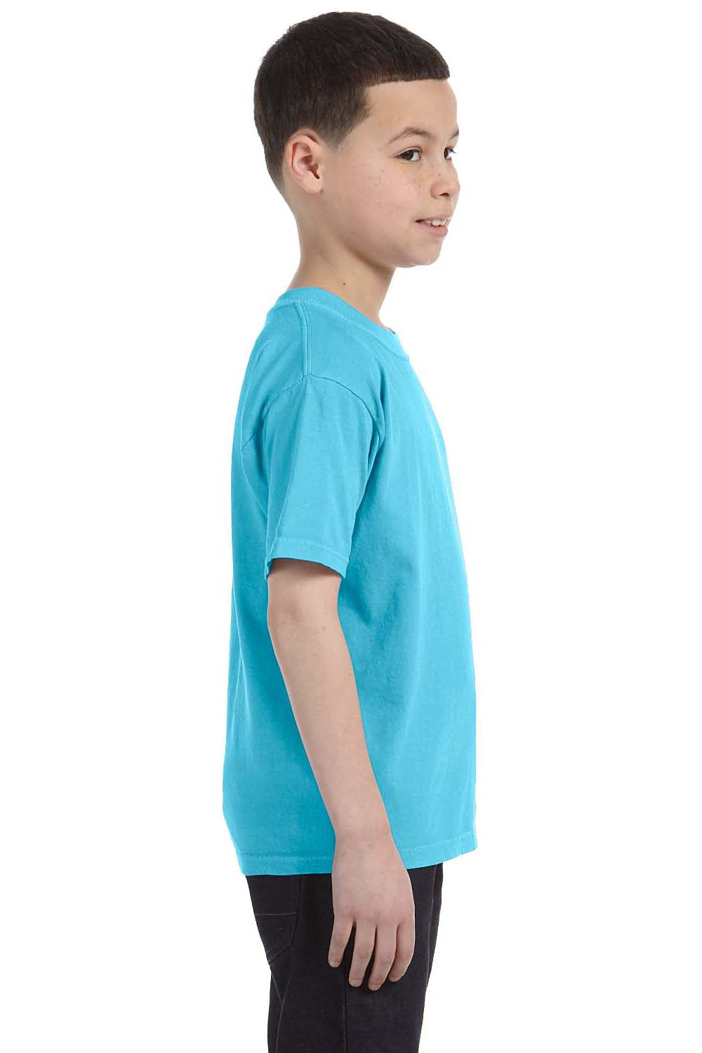 Comfort Colors C9018 Youth Short Sleeve Crewneck T-Shirt Lagoon Blue Side