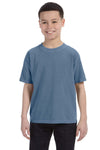 Comfort Colors C9018 Youth Short Sleeve Crewneck T-Shirt Blue Jean Front
