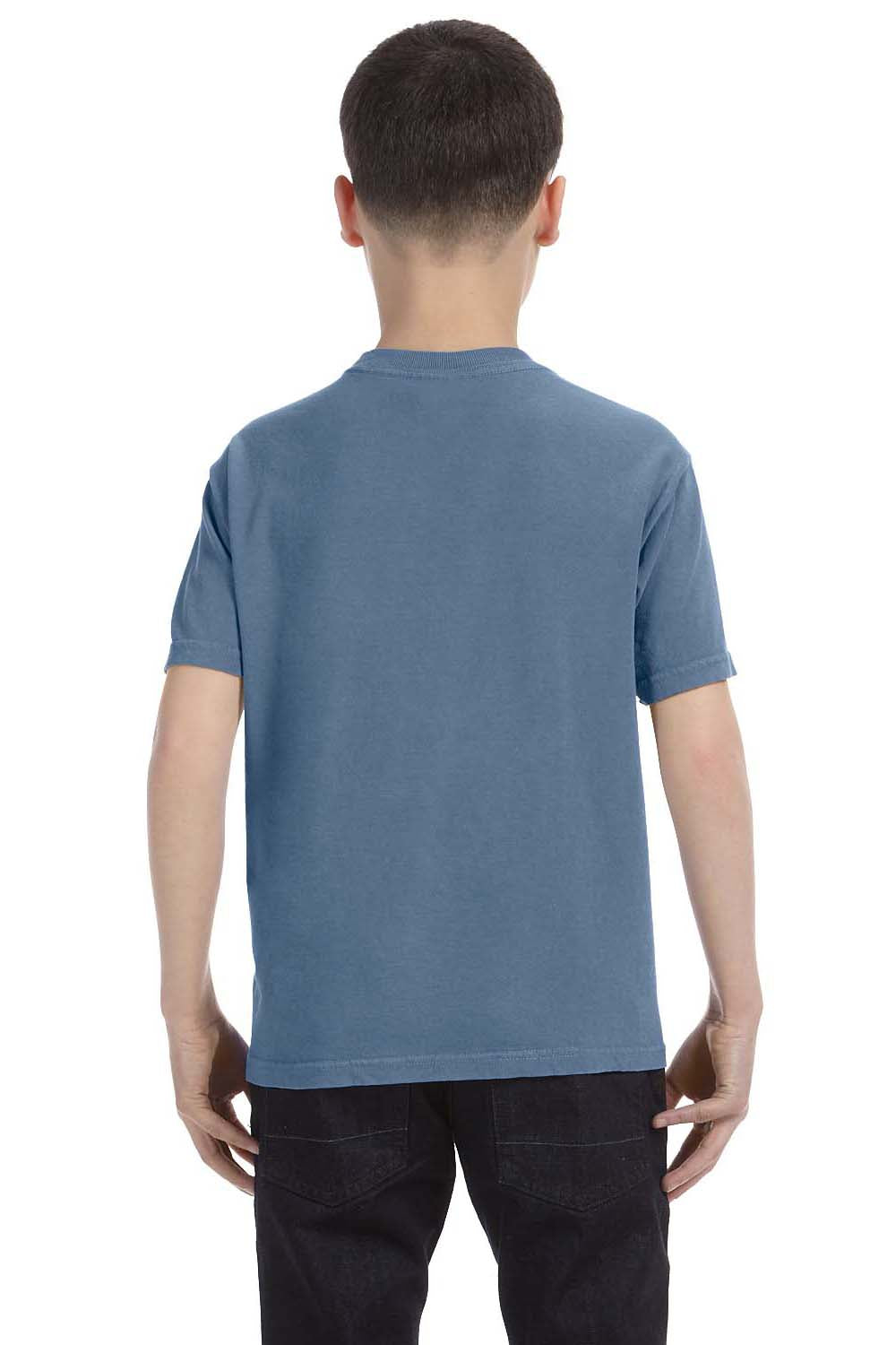 Comfort Colors C9018 Youth Short Sleeve Crewneck T-Shirt Blue Jean Back