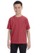 Comfort Colors C9018 Youth Short Sleeve Crewneck T-Shirt Crimson Red Front