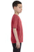 Comfort Colors C9018 Youth Short Sleeve Crewneck T-Shirt Crimson Red Side
