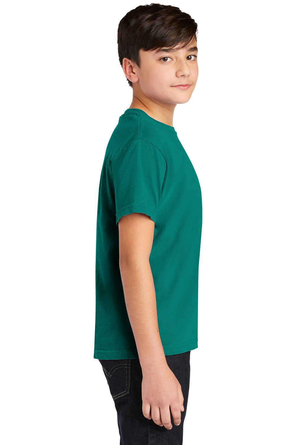 Comfort Colors C9018 Youth Short Sleeve Crewneck T-Shirt Seafoam Green Side