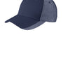 Port Authority Mens Adjustable Hat - Navy Blue/White