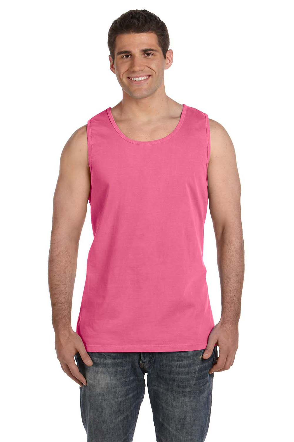 Comfort Colors C9360 Mens Tank Top Crunchberry Pink Front