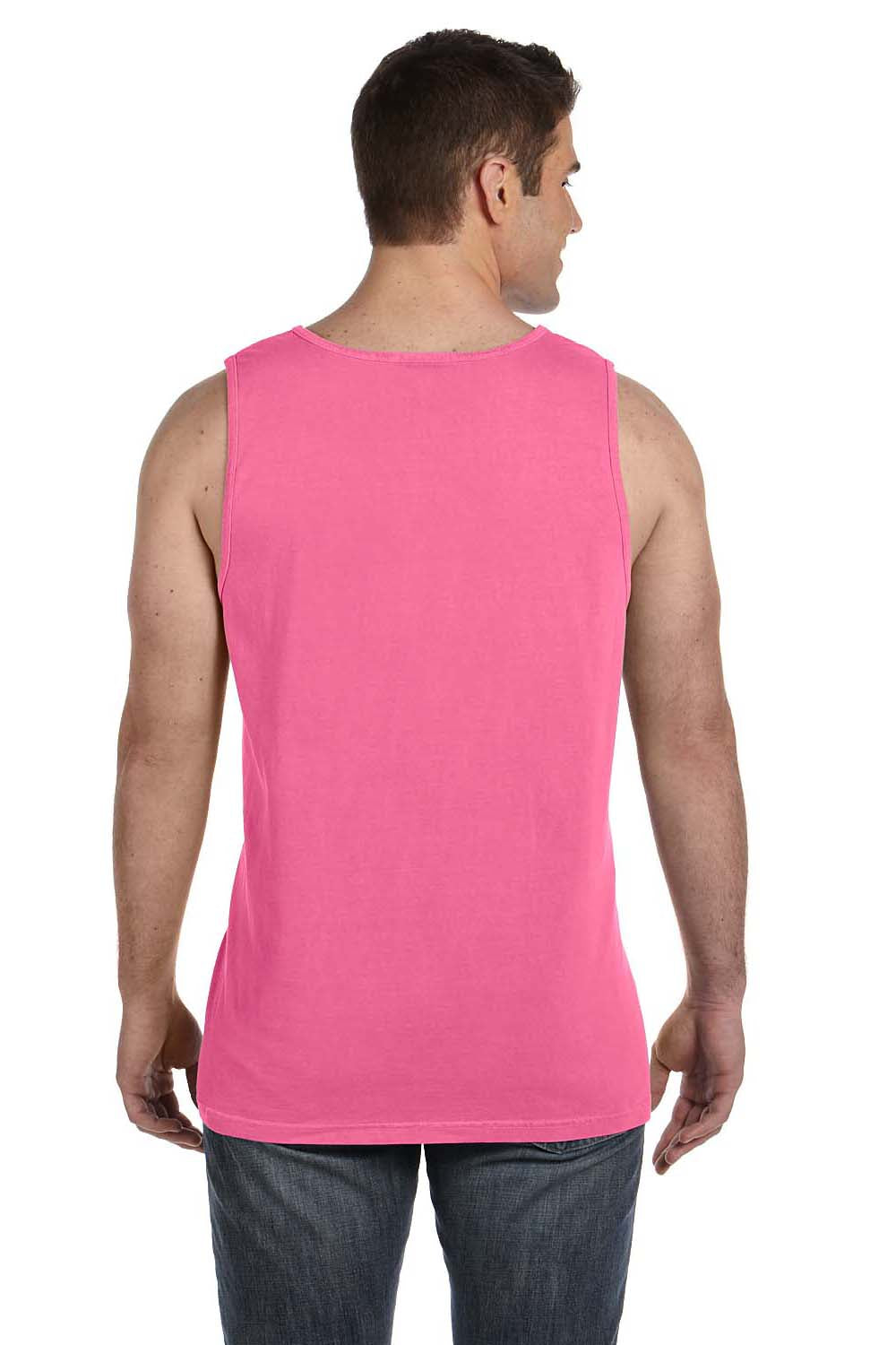 Comfort Colors C9360 Mens Tank Top Crunchberry Pink Back