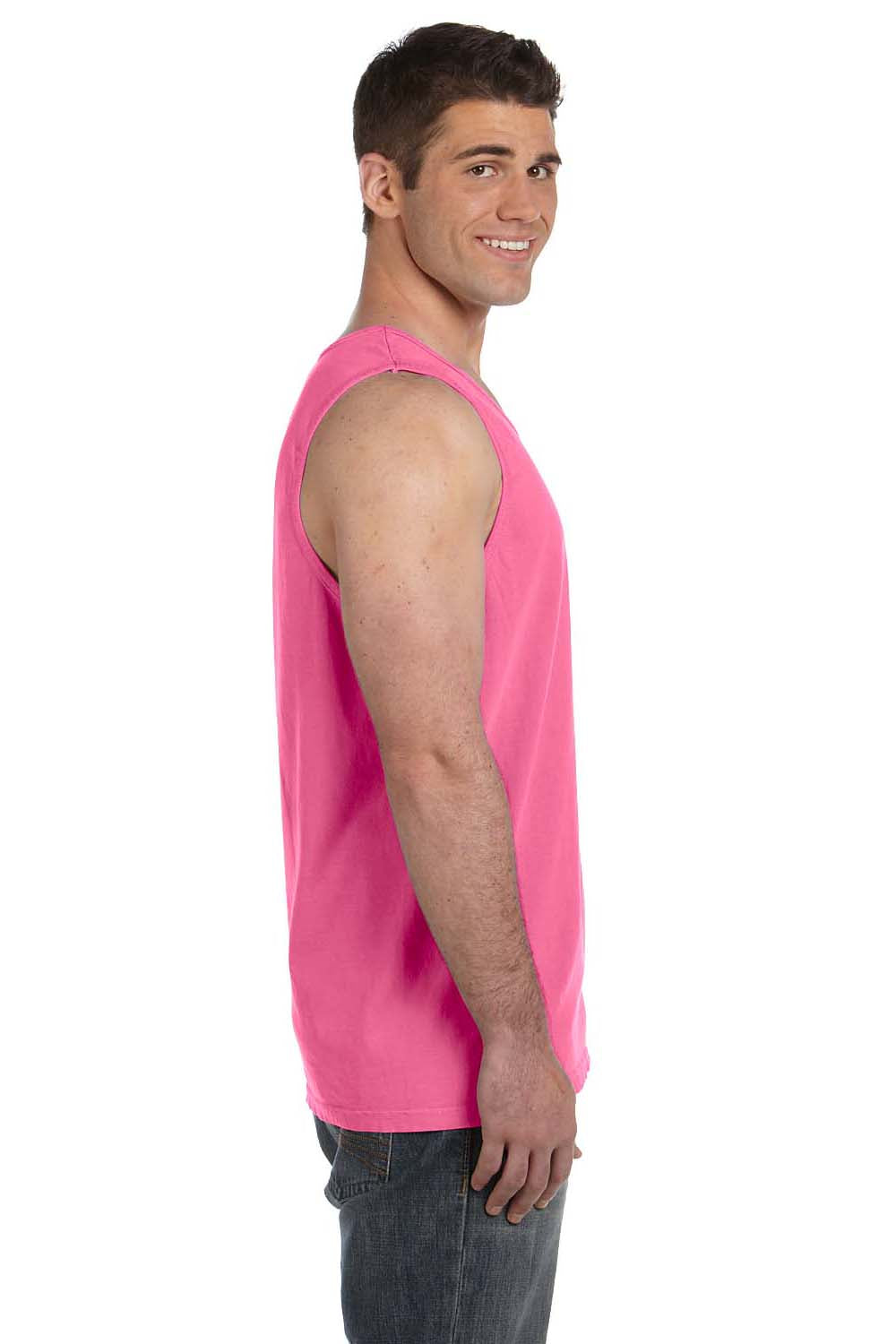 Comfort Colors C9360 Mens Tank Top Crunchberry Pink Side