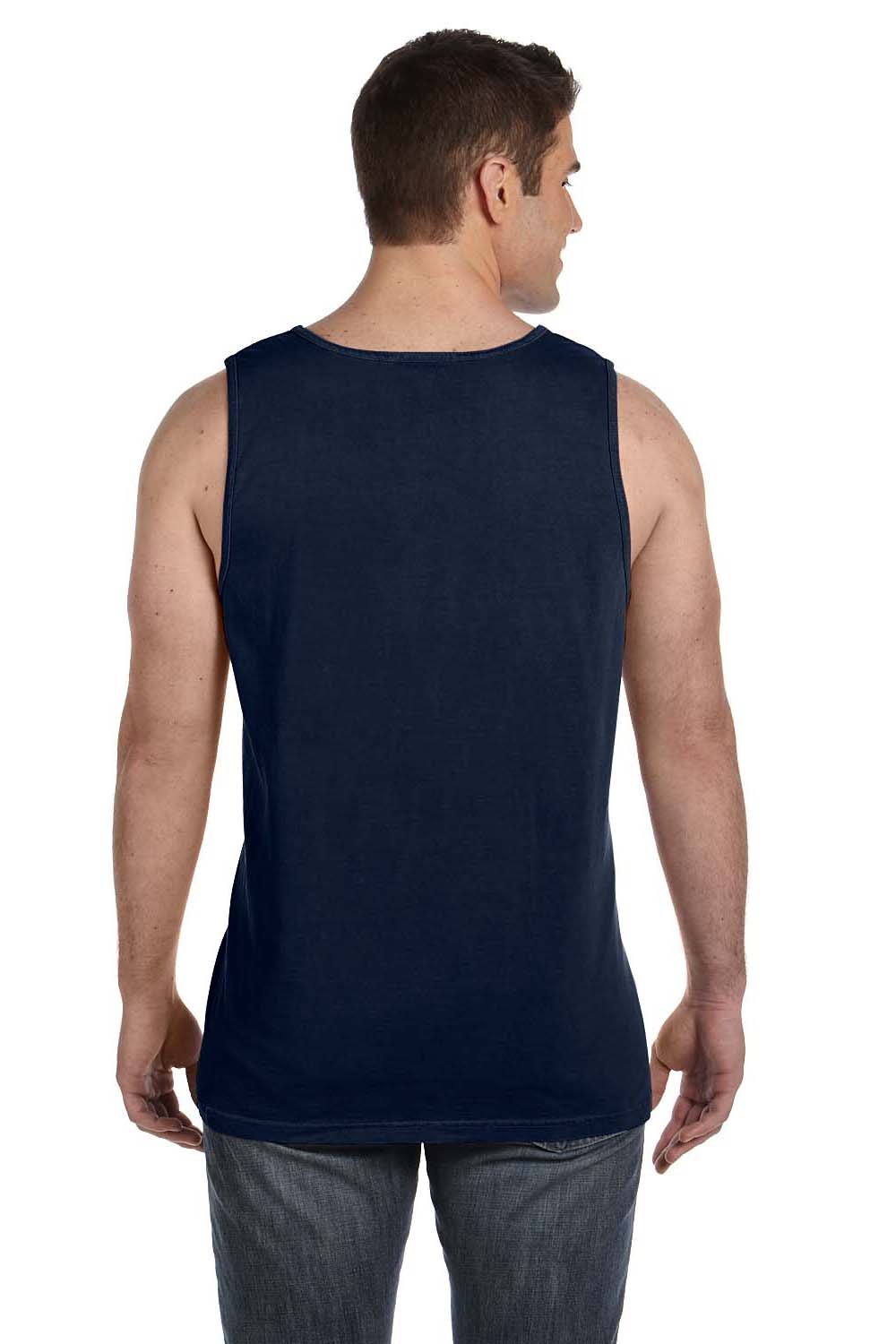 Comfort Colors C9360 Mens Tank Top Navy Blue Back