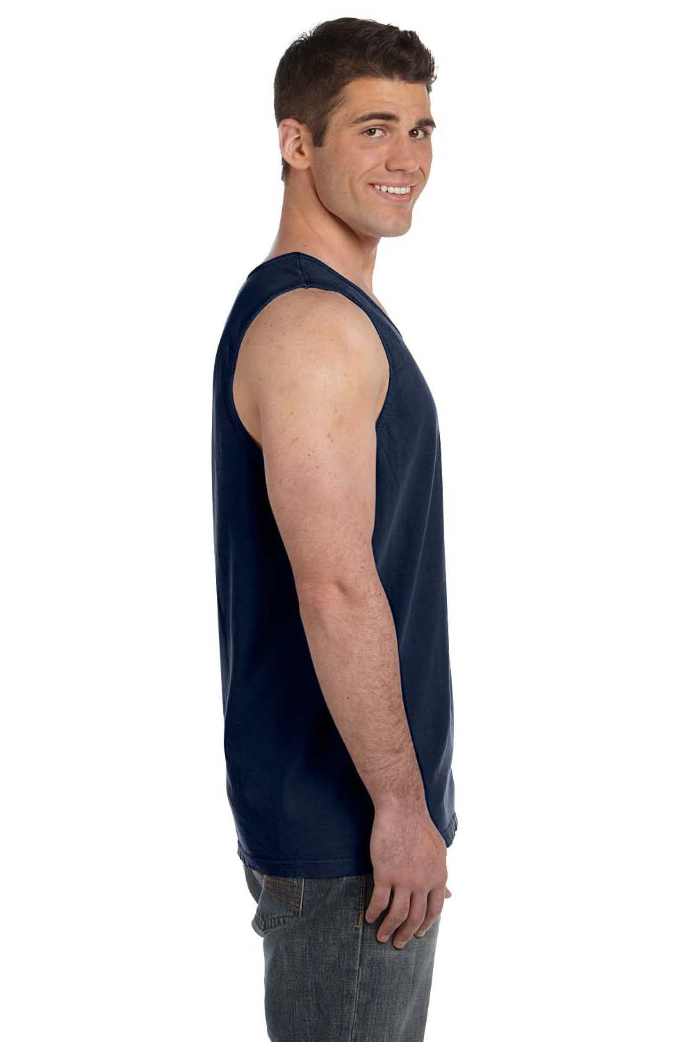 Comfort Colors C9360 Mens Tank Top Navy Blue Side