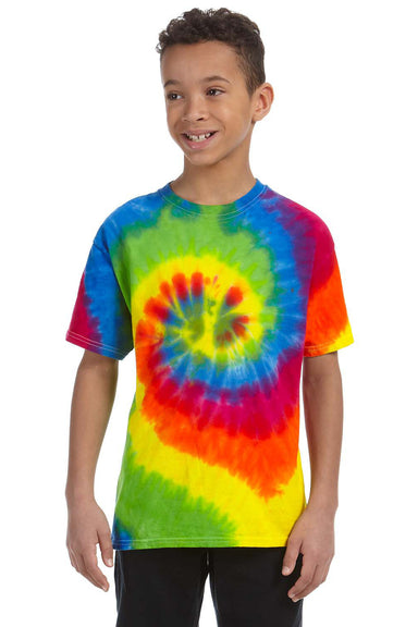 Tie-Dye CD100Y Youth Short Sleeve Crewneck T-Shirt Moondance Front