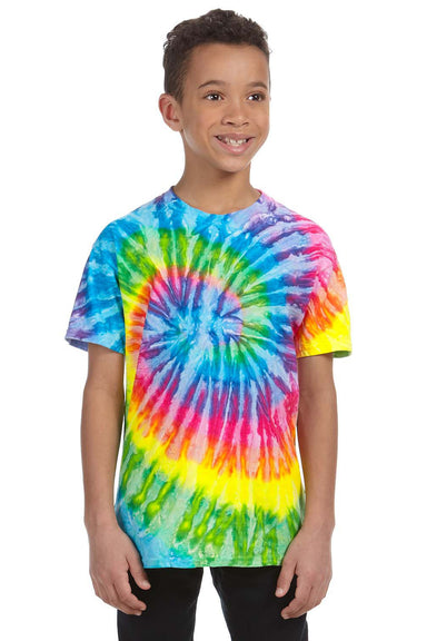 Tie-Dye CD100Y Youth Short Sleeve Crewneck T-Shirt Saturn Front