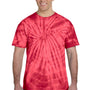 Tie-Dye Mens Short Sleeve Crewneck T-Shirt - Red