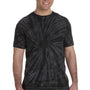 Tie-Dye Mens Short Sleeve Crewneck T-Shirt - Black