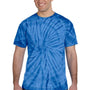 Tie-Dye Mens Short Sleeve Crewneck T-Shirt - Royal Blue