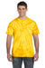 Tie-Dye CD101 Mens Short Sleeve Crewneck T-Shirt Gold Front
