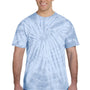 Tie-Dye Mens Short Sleeve Crewneck T-Shirt - Baby Blue