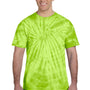 Tie-Dye Mens Short Sleeve Crewneck T-Shirt - Lime Green