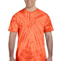 Tie-Dye Mens Short Sleeve Crewneck T-Shirt - Orange