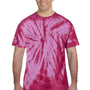 Tie-Dye Mens Short Sleeve Crewneck T-Shirt - Pink