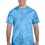 Tie-Dye Mens Short Sleeve Crewneck T-Shirt - Turquoise Blue