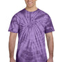 Tie-Dye Mens Short Sleeve Crewneck T-Shirt - Purple
