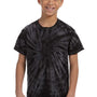 Tie-Dye Youth Short Sleeve Crewneck T-Shirt - Black