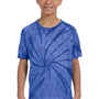Tie-Dye Youth Short Sleeve Crewneck T-Shirt - Royal Blue