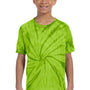 Tie-Dye Youth Short Sleeve Crewneck T-Shirt - Lime Green