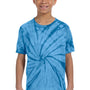 Tie-Dye Youth Short Sleeve Crewneck T-Shirt - Turquoise Blue