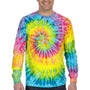 Tie-Dye Mens Long Sleeve Crewneck T-Shirt - Saturn