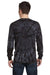 Tie-Dye CD2000 Mens Long Sleeve Crewneck T-Shirt Black Back