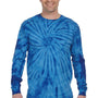 Tie-Dye Mens Long Sleeve Crewneck T-Shirt - Royal Blue