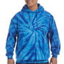 Tie-Dye Mens Hooded Sweatshirt Hoodie - Royal Blue