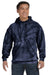 Tie-Dye CD877 Mens Hooded Sweatshirt Hoodie Navy Blue Front