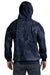 Tie-Dye CD877 Mens Hooded Sweatshirt Hoodie Navy Blue Back