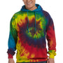 Tie-Dye Mens Hooded Sweatshirt Hoodie - Reactive Rainbow