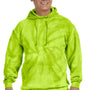 Tie-Dye Mens Hooded Sweatshirt Hoodie - Lime Green