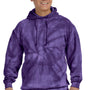 Tie-Dye Mens Hooded Sweatshirt Hoodie - Purple