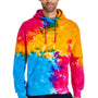 Tie-Dye Mens Hooded Sweatshirt Hoodie - Multi Rainbow