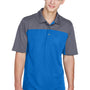 Core 365 Mens Balance Performance Moisture Wicking Short Sleeve Polo Shirt - True Royal Blue/Carbon Grey