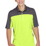 Core 365 Mens Balance Performance Moisture Wicking Short Sleeve Polo Shirt - Safety Yellow/Carbon Grey