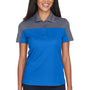 Core 365 Womens Balance Performance Moisture Wicking Short Sleeve Polo Shirt - True Royal Blue/Carbon Grey