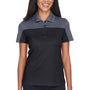 Core 365 Womens Balance Performance Moisture Wicking Short Sleeve Polo Shirt - Black/Carbon Grey
