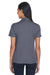 Core 365 CE101W Womens Balance Performance Moisture Wicking Short Sleeve Polo Shirt Navy Blue/Grey Back